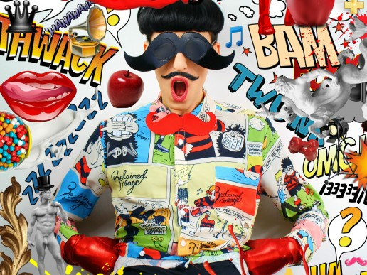 Comics Overdose (Apples) by Nuno Roque - Artwork - Photography - Contemporary Art - Collage - Mustglasses - Moustache Bow Tie (Rouge)