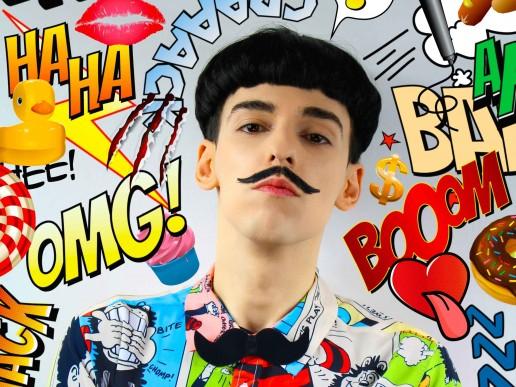 Nuno Roque - Comics Overdose (Duck) - La Mafia Dell'Arte - Moustache Bow Tie - Pop Music - Photography - Contemporary Art - Collage - Bow Tie