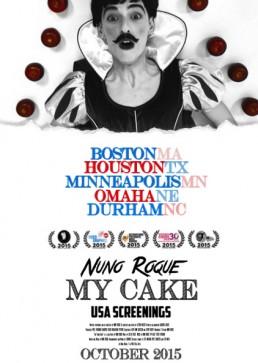 Nuno Roque - Gender Reel Festival - My Cake - Poster - USA Poster Apples Snow White Blanche Neige Moustache America - Contemporary Art - Artwork - Disney Snow White