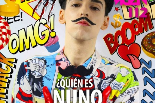 Nuno Roque covers ULISEX Magazine Mexico - Fashion Moustache Bow Tie - Comics Overdose (Duck)