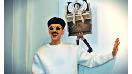 Nuno Roque photo call - the piano body - sculpture - press Vernissage Exhibition Exposition - My Cake - Fashion Paris Moustache Mustache - Music - sunglasses - museum - contemporary art - art contemporain