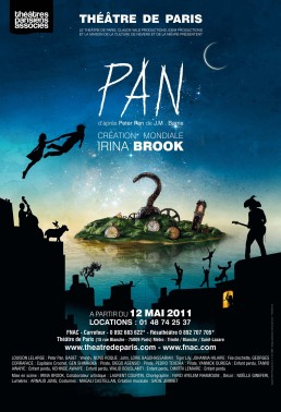 Pan - Irina Brook - Peter Pan - Théâtre de Paris - Poster