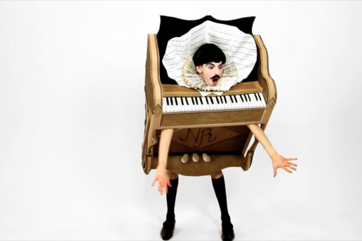 The Piano Body by Nuno Roque (sculpture) - My Cake (film) - Wearable Sculpture - Contemporary Art - Pop Music - Artwork
