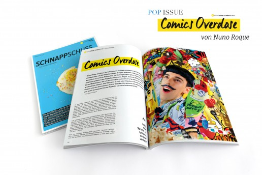 Essay by Nuno Roque - Comics Overdose - contemporary art - photography - mustache - pop - press - schnappschuss magazine germany