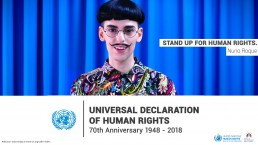 Nuno Roque - United Nations Human Rights Campaign - Rights Out Loud - Antonio Guterres Ambassador 2