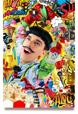 Comics Overdose (Popcorn) by Nuno Roque - Artwork - Contemporary Art Oeuvre Photography - Moustache Bow Tie Fashion 3