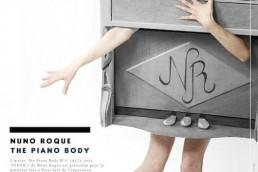 1 The Piano Body - Nuno Roque - Poster - Art - Exhibition Exposition Art Contemporain - Stuck Series - Artwork - La Mafia Dell'Arte - Sculpture - Wearable Sculpture - Paris - Vernissage 2