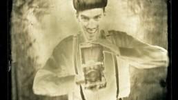 Nuno Roque Portrait collodion wet plate photographic process fake self portrait
