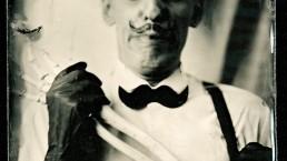 Nuno Roque Portrait collodion wet plate photographic process skeleton afraid