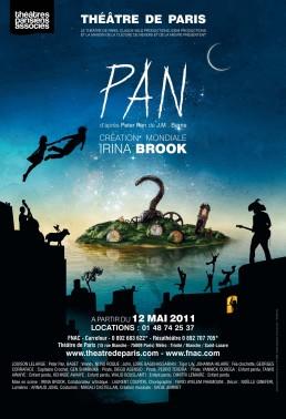 Pan - Irina Brook - Peter Pan - Théâtre de Paris - Poster