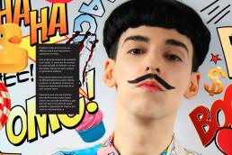 Portrait of Nuno Roque - Comics Overdose (Duck) artwork - Magazine - Ulisex LGBT Moustache