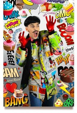 Nuno Roque - Artwork - Comics Overdose (Cakes) - La Mafia Dell'Arte - Pop Music - Contemporary Art - Photography - Collages - Moustache Bow Tie